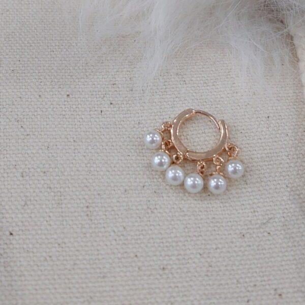 Orecchini cerchietto perle