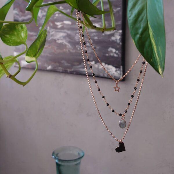 Collana a tre fili Lumiere Bijoux stellina vuota