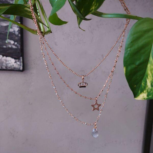 Collana tre fili Lumiere Bijoux corona