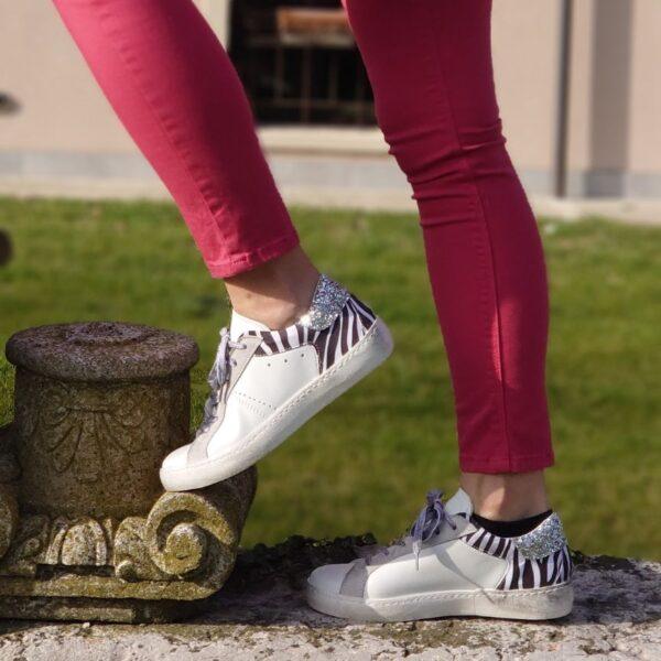 Sneaker Ovye zebra glitter