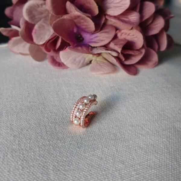 Ear cuff perle e zirconi