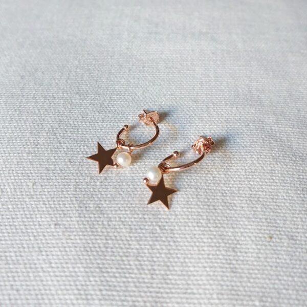 Orecchini stella perla