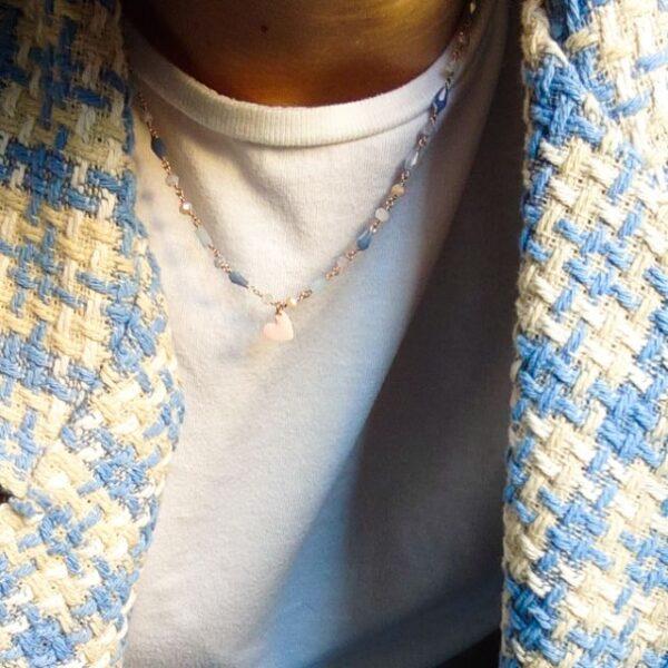 Girocollo Lumiere Bijoux azzurro