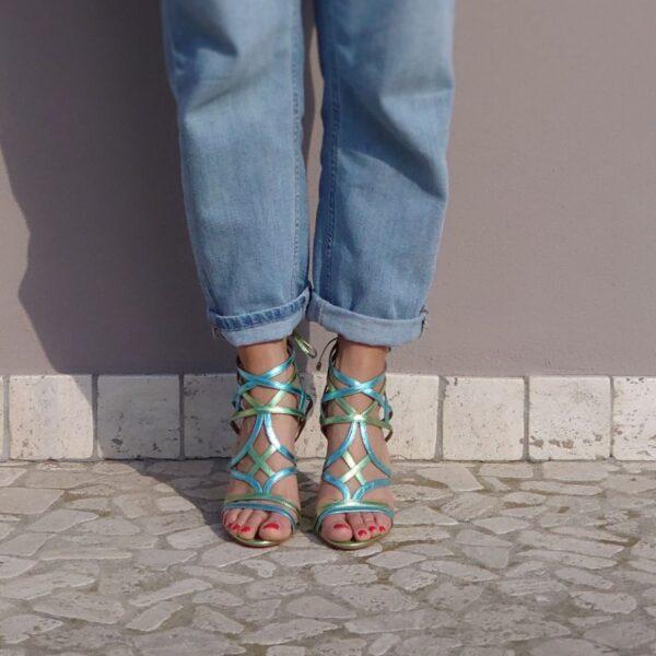 Sandalo Clara verde celeste